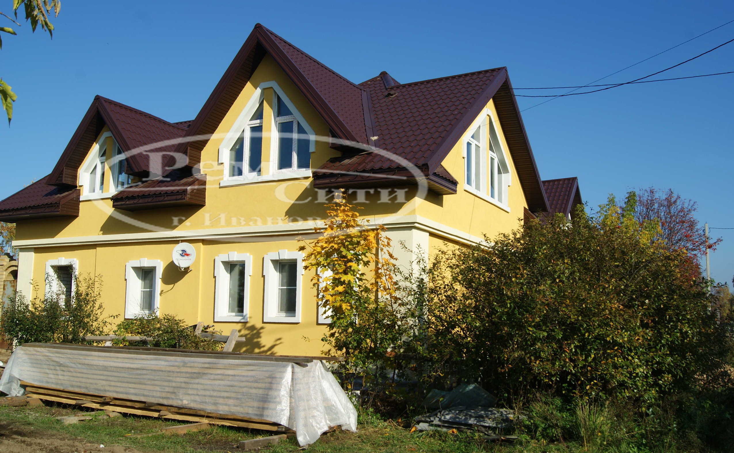 Фасады домов из короеда