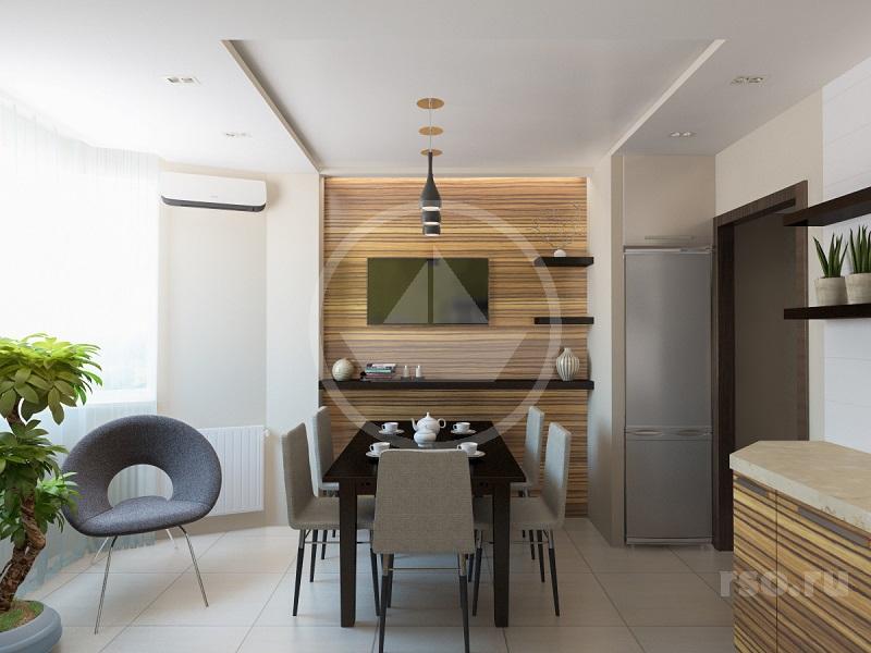 Дизайн кухни, Ремонт квартир под ключ в Москве и ближнем Подмосковье :: Студия, апартаменты