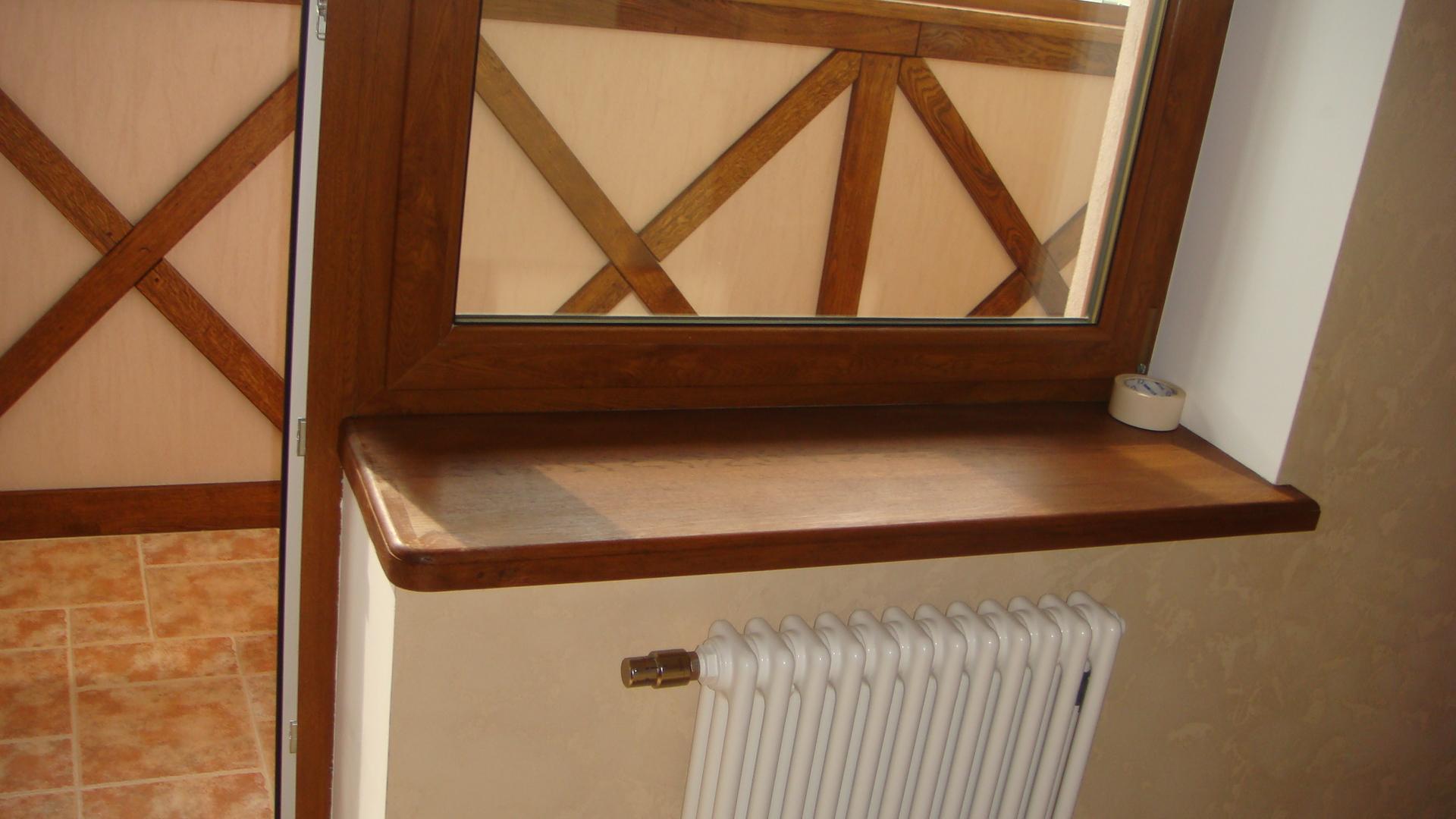 Деревянный подоконник на балконе своими руками
