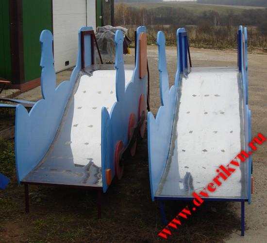 Детские горки паровозики со скатом из