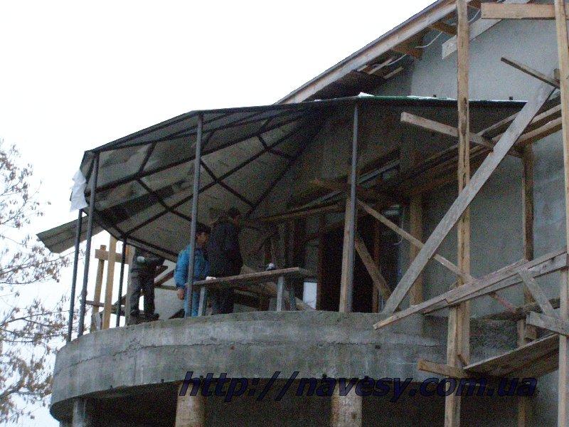 Навес балкона, светопрозрачная кровля стройтал.ru - строител.