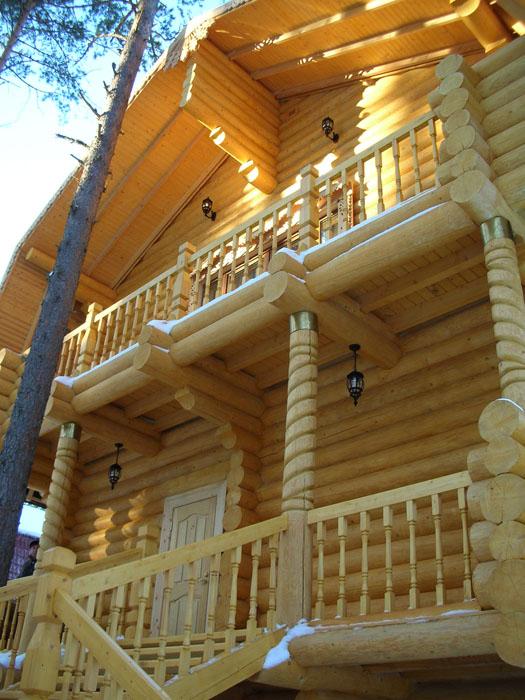 Дом с балконом, деревянные дома и бани с балконом :: балкон,.