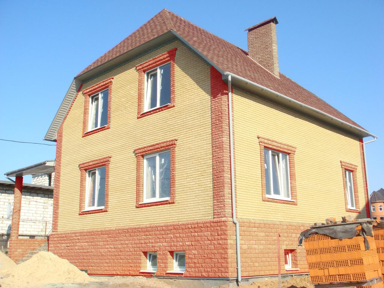 Облицовка фасада дома кирпичом фото
