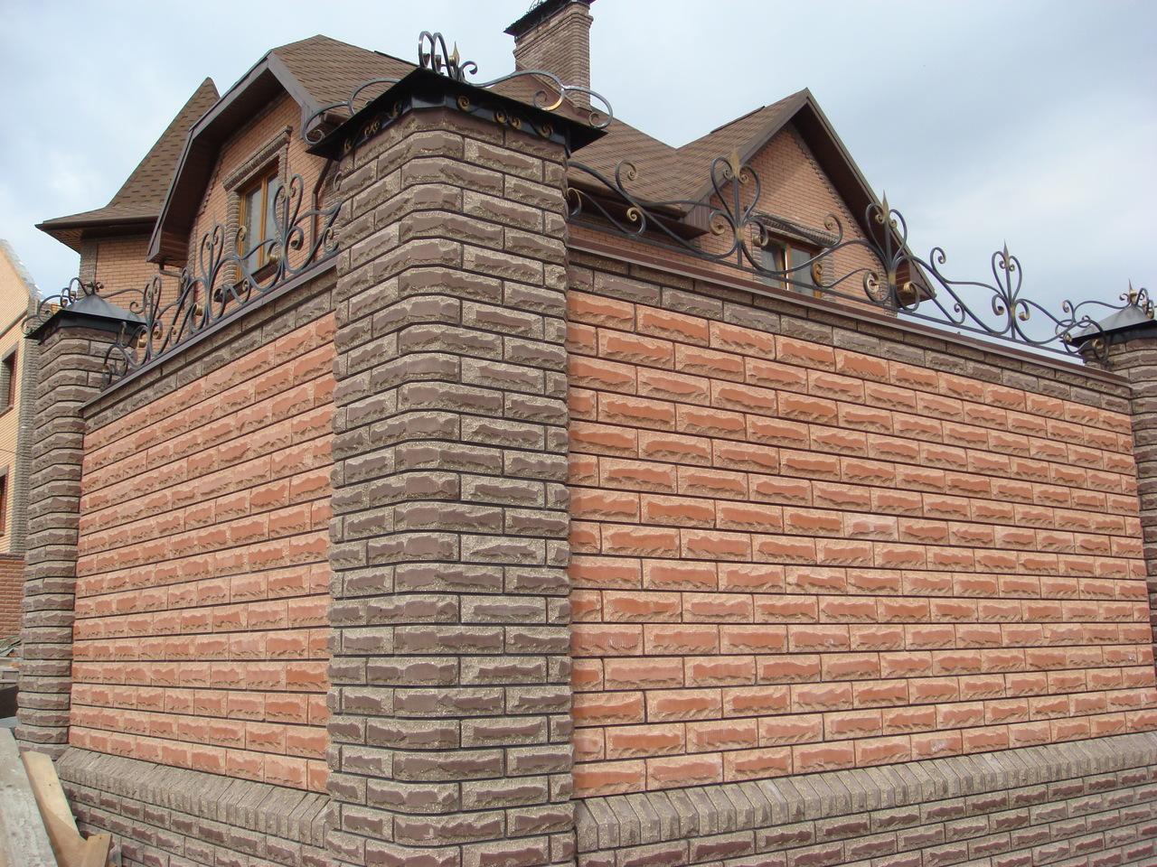 Красивая кирпичная облицовка домов фото