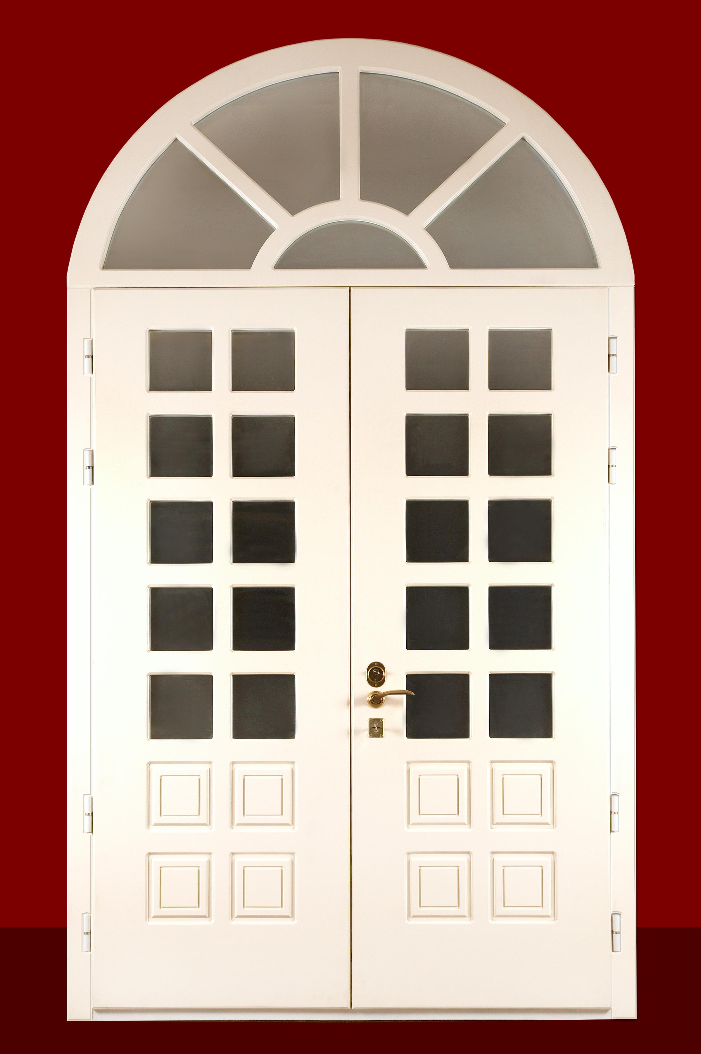 дверь металлическая с арочным окном