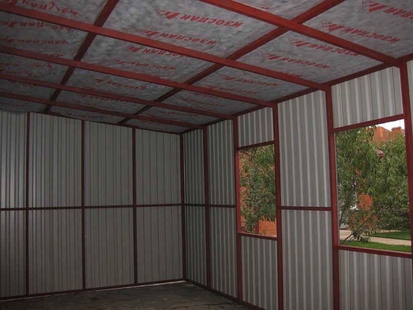 Строить гараж своими руками из профлиста