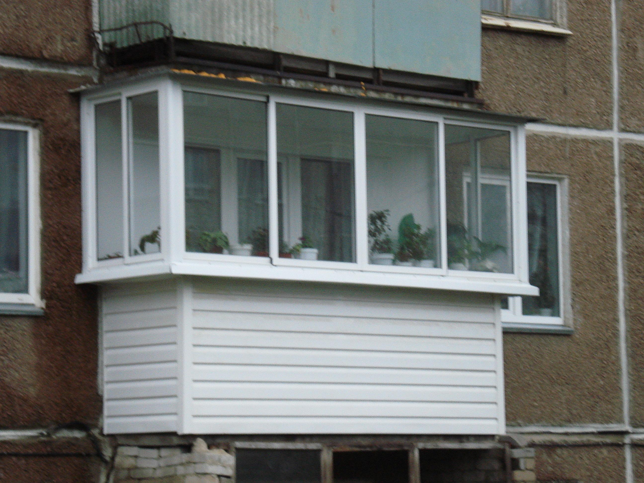 Остекление балкона с выносом от медведь, ооо г. пермь.