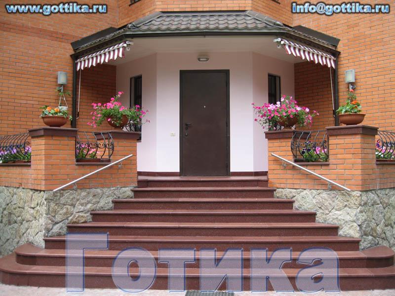 Дизайн входной ступенек в доме