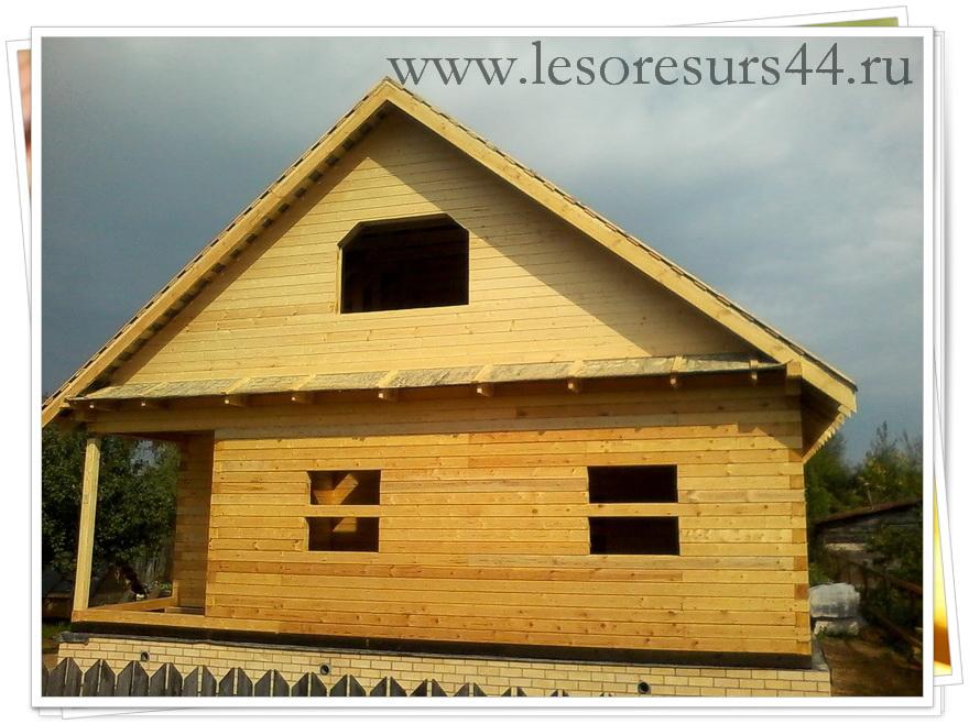 Строим дом из бруса профилированного бруса
